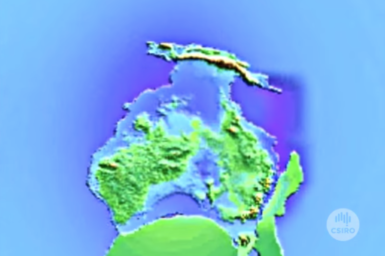 Graphic of tectonic plates moving