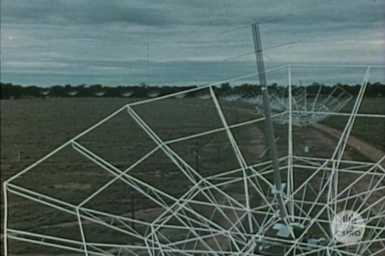 Radioheliograph Antennae array at Narrabri.