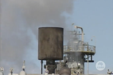 Air pollution from chimney stacks