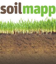 SoilMapp logo on grass and soil