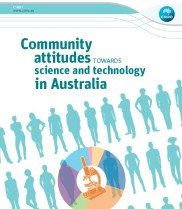 Partial image of Community attitudes towards science and technology in Australia report cover