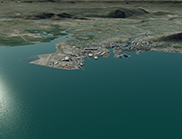 Townsville before inundation from storm surge combined with sea level rise.