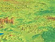 Total Nitrogen at soil surface (0-5cm average). Deep red about 0.3%, deep green about 0.1%. (Mainly from vegetated. Strong relationship between the soil and the vegetation). Central west through Central highlands through to Sydney. Left Blue Mountains, to the right (West) central highlands and green flatter area Central west