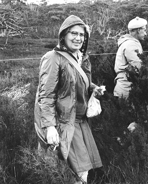 Nancy Burbidge collecting plant specimens for research - Australian Captial Territory