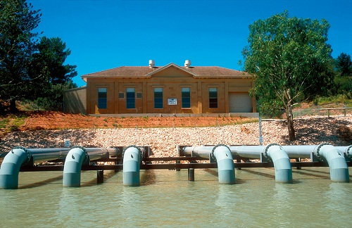 Pumping Station on the Murray River at Loxton