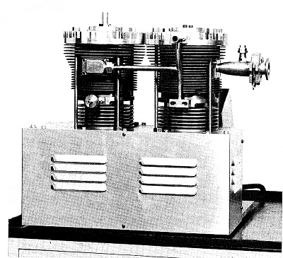 A parallel twin-cylinder model of the oil-free vacuum pump