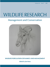 The cover of _Wildlife Research_