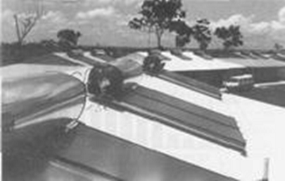 Solar water heaters on Northern Territory Housing Commission Units at Palmerston