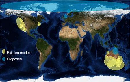 Map of the Atlantis ecosystem modelling
