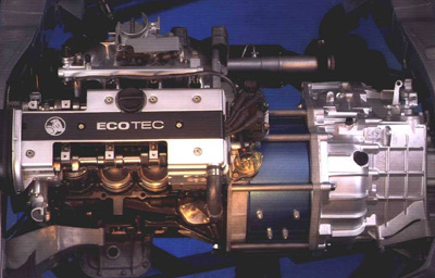 Cutaway model of Holden ECOmmodore drive-train
