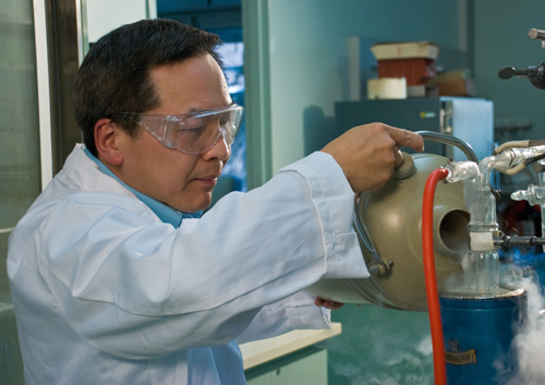 Dr San Thang prepares to perform a RAFT polymerisation