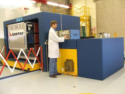 The reference scanner installed in the CSIRO Minerals laboratory at Lucas Heights