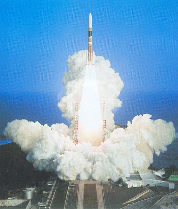 FedSat is launched on the NASDA H-IIA rocket from Tanegashima Space Centre