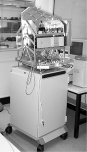 A photograph of the active 190 GHz imaging system