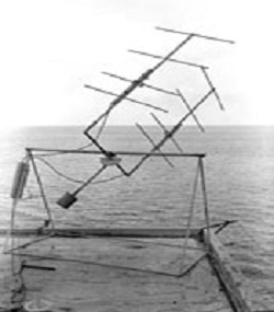 This 2-element Yagi array was erected on a blockhouse at Dover Heights in February 1947