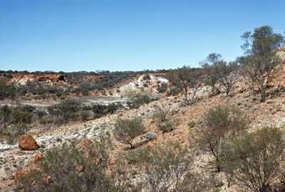 An example of regolith-dominated terrain from the Peak Hill region of Western Australia