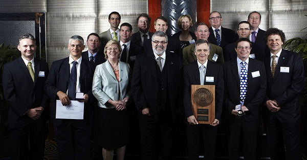 The Livestock Genomics Team receiving the CSIRO Chairman's medal