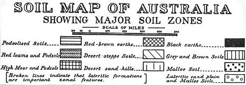 The legend of the soil map of Australia