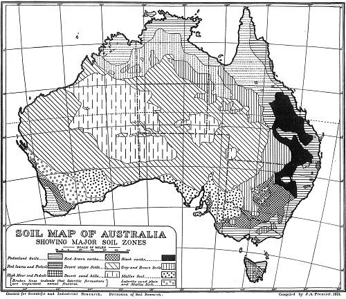 The soil map of Australia