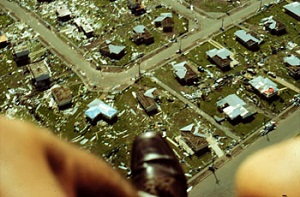 Inspecting the damage by Cyclone Tracy from above
