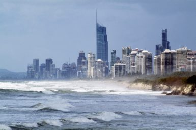 Coastal development at Surfers Paradise