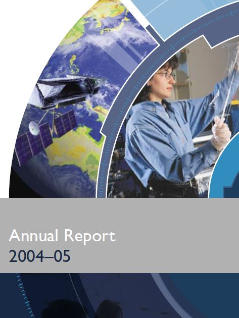 2004 - 2005 Annual report cover