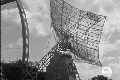Radio telescope antennae.