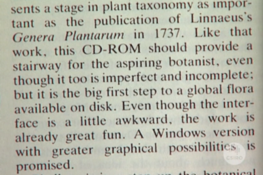 Text of review of CD-ROM product.