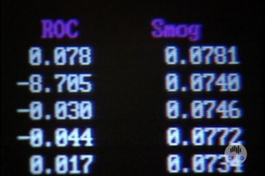 Airtrak data screen.