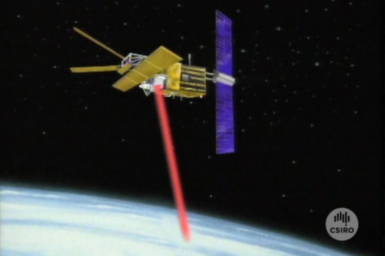 Graphic illustrating ERS1 satellite in orbit..