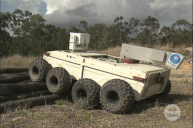 Numbat mine recovery vehicle being tested.