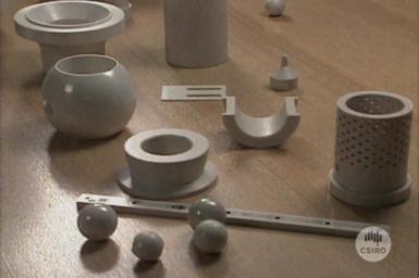 Samples of Zirconia ceramics.