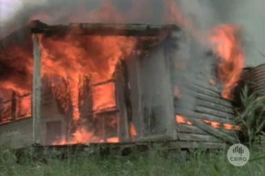House burning demonstration.