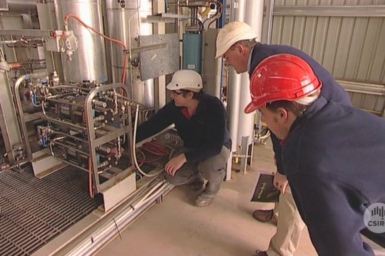 Researchers at Hydrodec plant