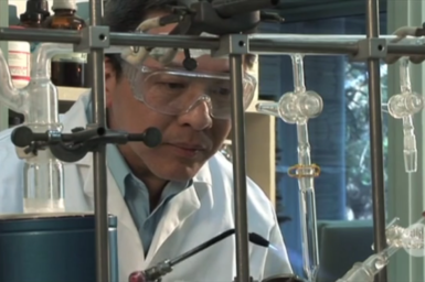 San Thang at work in laboratory