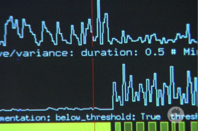 Waveforms on computer monitor