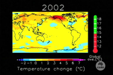 Graphic of climate model