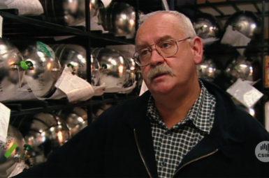 Dr Paul Fraser in air sample storage room