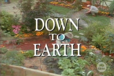 Opening title of Down to Earth video.