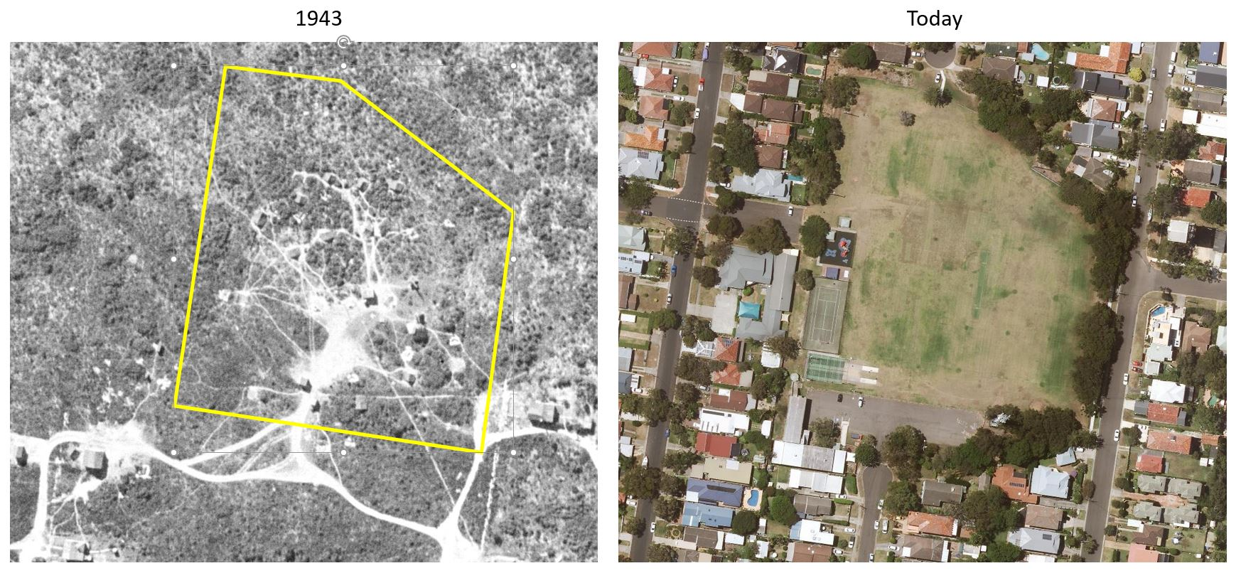 Aerial views of Collaroy Plateau Park
