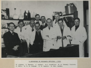 A gathering of research officers, 1939